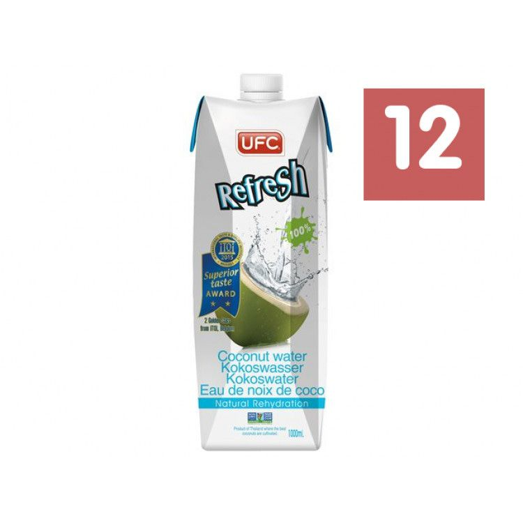 UFC Refresh Kokoswater 12 x 1000 ml Multipack